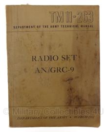 TM11-263 Department of the army technical manual - Radio Set AN/GRC-9 - origineel 1951