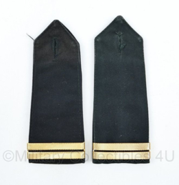 Politie epauletten rang Surveillant PAAR - 13 x 5 cm - origineel