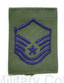 USAF US AIRFORCE GVT epaulet voor de borst van de Goretex jas  -  rang  Master Sergeant - per stuk - 5,5 x 4 cm -  origineel