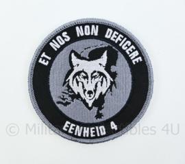 Nederlandse Politie Et Nos Non Deficere Eenheid 4 embleem - met klittenband - diameter 9 cm