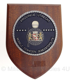 Mobiele Eenheden Gemeentepolitie Provincie Utrecht wandbord - 19,5 x 14,5 cm - origineel