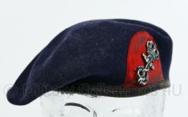 Korps Mariniers baret met insigne - maat 58 - gedragen met gebruikssporen - origineel