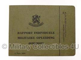 KL Nederlandse leger rapport individuele militaire opleiding - origineel