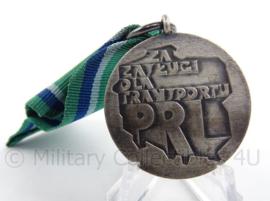 Poolse zilveren medaille - Verdiensten voor Transport voor de Poolse Volksrepubliek - 4 x 10 cm - origineel