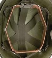 Leerwerk zweetband voor US M1 helm Headband adjustable - met metalen klemmetjes