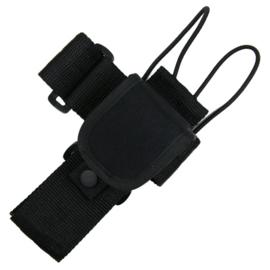 Koppel portofoon houder zwart - 100% Cordura - DP234