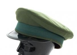 Leger groene platte pet - ook bruikbaar voor Knil - zonder insigne -  57 cm. - origineel