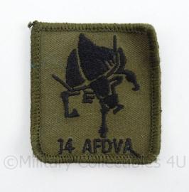 KL Landmacht borst embleem 14 AFDVA van de 43 Gemechaniseerde Brigade- met klittenband - afmeting 5 x 5 cm - origineel