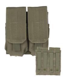 Magazijntas Double M4/M16 Magazin pouch koppeltas - MOLLE draagsysteem - 16 x 5 x 17 cm - GROEN
