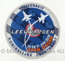 Vliegbasis Leeuwarden open dagen 2008 embleem - met klittenband - origineel