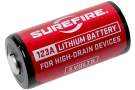 SureFire CR123A 3V Lithium batterijen - per 2 stuks - voor kijkers, zaklampen, Surefire lampen e.d. - nieuw