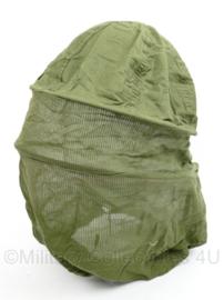 Klamboe muskietennet voor om je hoofd - Nederlands leger jaren 80 - licht gebruikt - origineel