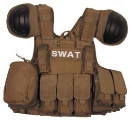 SWAT EN ME assault vest - extra beschermend - Coyote