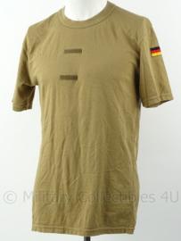 Duitse Bundeswehr sportshirt met klittenband op de borst - gedragen - maat 48/42 - origineel