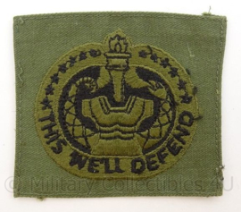 US Army BDU borst embleem Drill Instructor This we'll Defend - afmeting 8,5 x 7,5 cm - origineel