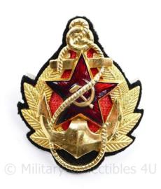USSR Russische leger Officiers Marine pet insigne deluxe - 7 x 6 cm - origineel
