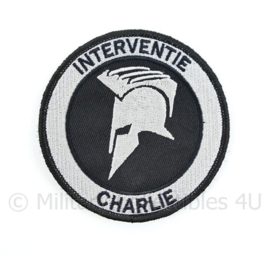"Nederlandse Politie ""Interventie Charlie"" embleem - met klittenband - diameter 9 cm"