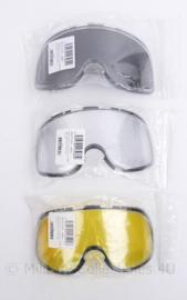 Bolle Tactical X500 - 3 verschillende soorten reserve glazen - nieuw