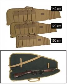 Geweer tas geweer foudraal  - rifle case in 100 of 140 cm lengte - Coyote