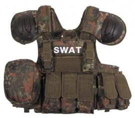 SWAT EN ME assault vest - extra beschermend - flecktarn