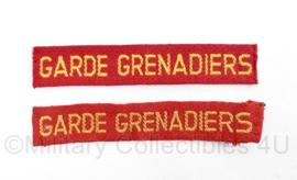 MVO straatnaam PAAR Garde Grenadiers  - model jan 1951 tot dec 1962 - 10,5 x 2 cm - origineel