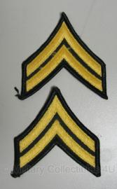 US Army - sergeant rank patches - origineel vietnam oorlog