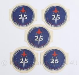 Klu Luchtmacht bierviltjes set open dagen vliegbasis Volkel 2004 - 25 jaar F16 - origineel