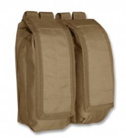 Koppel magazijn tas dubbel AK47 - Molle draagsysteem - 15x7x19cm - Coyote