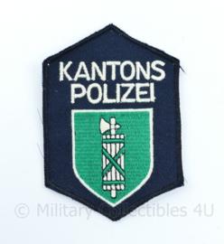 Zwitserse Kantons Polizei embleem - 9,5 x 6,5 cm - origineel