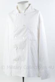 Nieuwe koksjas wit - maat XL