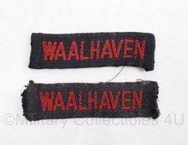 MVO straatnaam PAAR Waalhaven - 7 x 2 cm - origineel