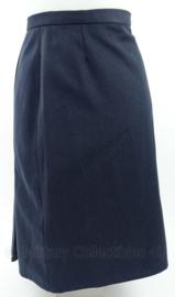 Blauwe dames rok chauffeuze 1974 - maat 46 - origineel