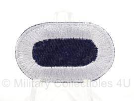 WO2 US Oval wing klein formaat - blauw met witte rand - afmeting 2,5 x 4 cm - replica
