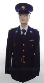Nederlandse Rijkspolitie te Water Luchtwaarnemingsdienst uniform SET jas, overhemd, stropdas en pet - met originele insignes - maat L / XL- origineel
