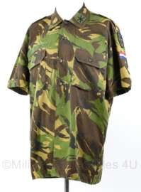 Nederlands DPM uniform shirt met originele US Air Defense Artillery insignes en Major rang - eenheid ingedeeld bij de Amerikanen - 6080/0005 - origineel