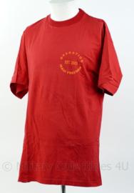 Rood T-shirt van Korps Mariniers Who's your Baghdaddy! Operation Iraqi Freedom 2003 Maat L - Origineel