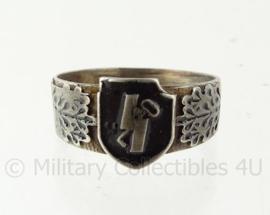 WO2 Duitse SS Hitlerjugend ring met stempels - diameter 22 mm