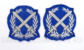 Korps Rijkspolitie Brigadier mouw rangen, per paar  - 7 x 7,5 cm -  origineel