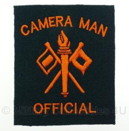 WO2 US Army Camera Man Official embleem oranje - 8,4 x 9,7 cm - replica