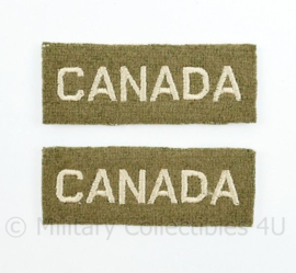 WO2 Canadese CANADA  shoulder title pair