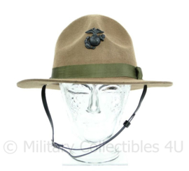 USMC Marine Corps Drill Instructor hat Campaign hat hoed met insigne replica