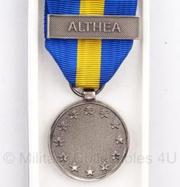 "KL ESDP Althea The Common Security and Defence Policy Service Medal ALTHEA in origineel doosje - ""pro pace unum"" - origineel"