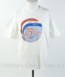 Nederlandse Marineluchtvaartdienst 75 jaar Vliegende Marine 1917-1992 shirt - gedragen - maat XXL - origineel