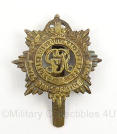 WO2 Britse baret insigne Royal Army Service Corps- afmeting 3,5 x 5 cm - origineel
