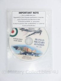 DVD Iranian Military Aviation  1923-2010 - power point slide show - 19,5 x 13 x 0,5 cm-origineel