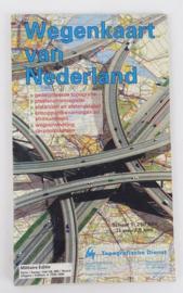 KL Nederlandse leger Topografische militaire wegenkaart Nederland 1:250 000 - 110 x 128 cm - origineel