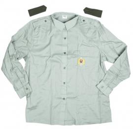Leger overhemd met schouderstukken ONGEBRUIKT lichtgroen - origineel