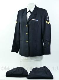 Koninklijke Marine dames daags blauw uniform met broek en rok! - rang korporaal - geneeskundige dienst- maat 38 - origineel
