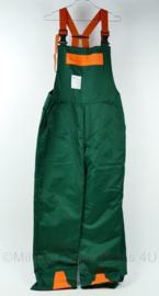 Werkbroek zaagveilig Class 1. bretelbroek groen oranje - maat 52 - NIEUW - origineel