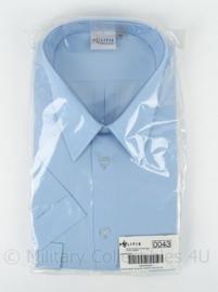 Nederlandse politie overhemd blauw - korte mouwen - maat 43 - nieuw in de verpakking - origineel